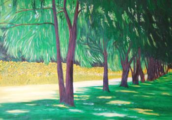 AJ McDonald painting